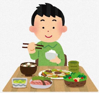 栄養バランスの良い食事のイラスト