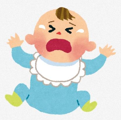 泣いている赤ちゃんの画像
