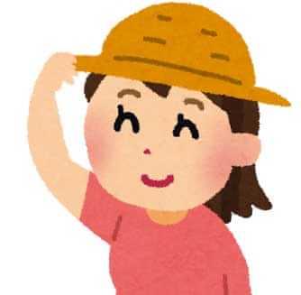 帽子をかぶった女の子のイラスト
