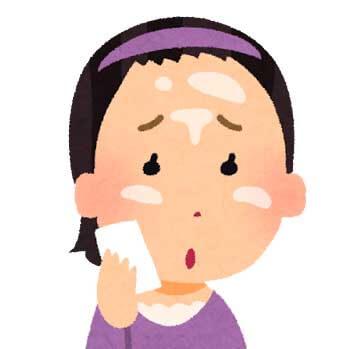 脂性肌で顔がテカテカの女性