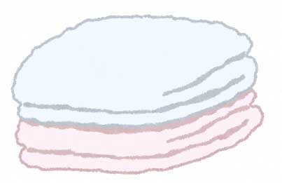 タオルのイラスト
