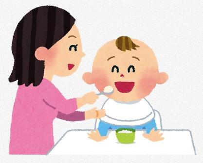 赤ちゃん離乳食のイラスト
