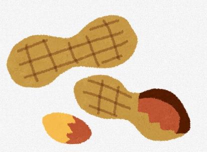 ピーナッツのイラスト