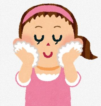 洗顔の画像