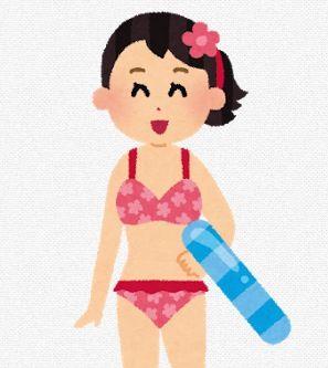 水着を着た女性のイラスト
