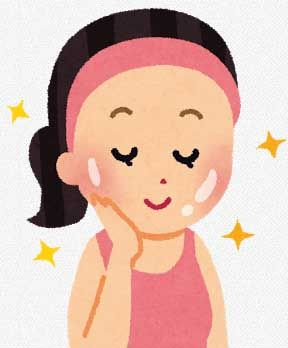 つるつるのお肌の女性のイラスト
