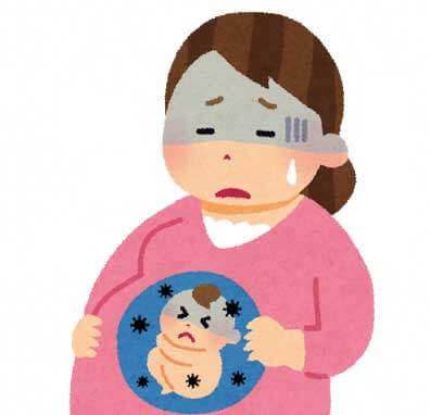 妊娠しているお母さんのイラスト